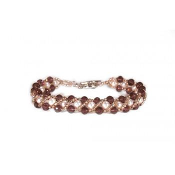 Pulsera de perlas y cristales
