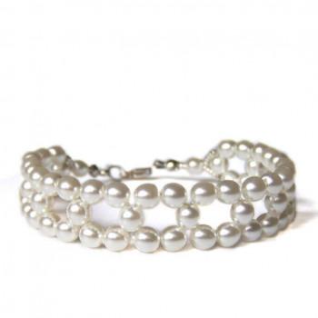 Pulsera fina de perlas