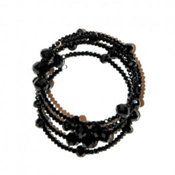 Brillante pulsera de cristal negro