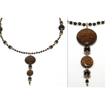 Collar de bronzita vintage